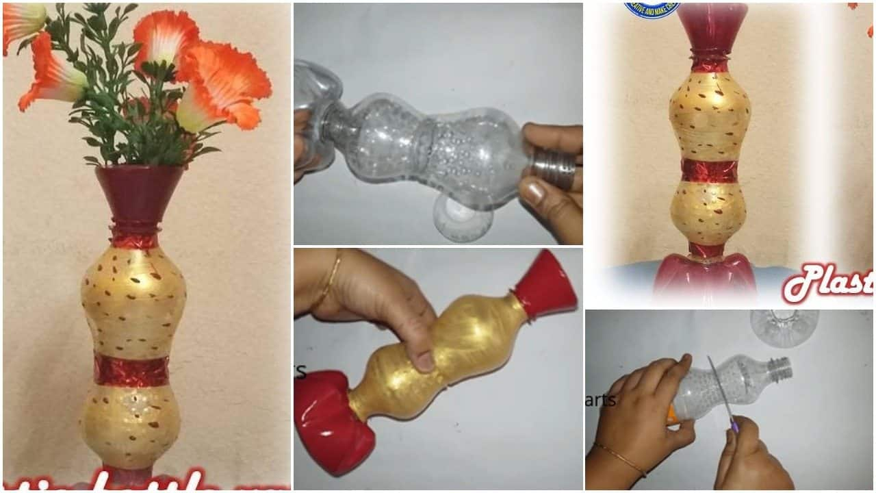 How to make flower vase from plastic bottle