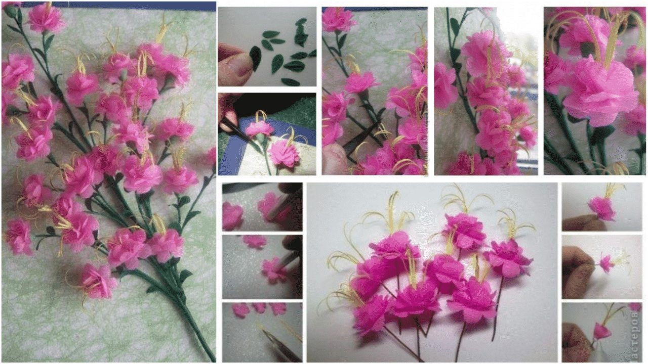 How to make pink flower