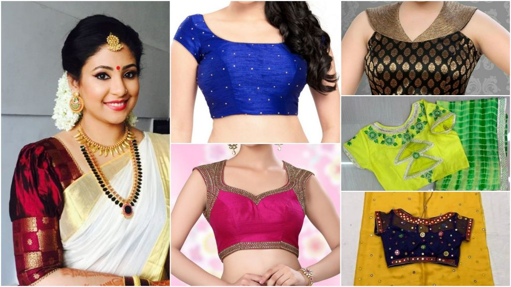 Trendy saree blouses designs