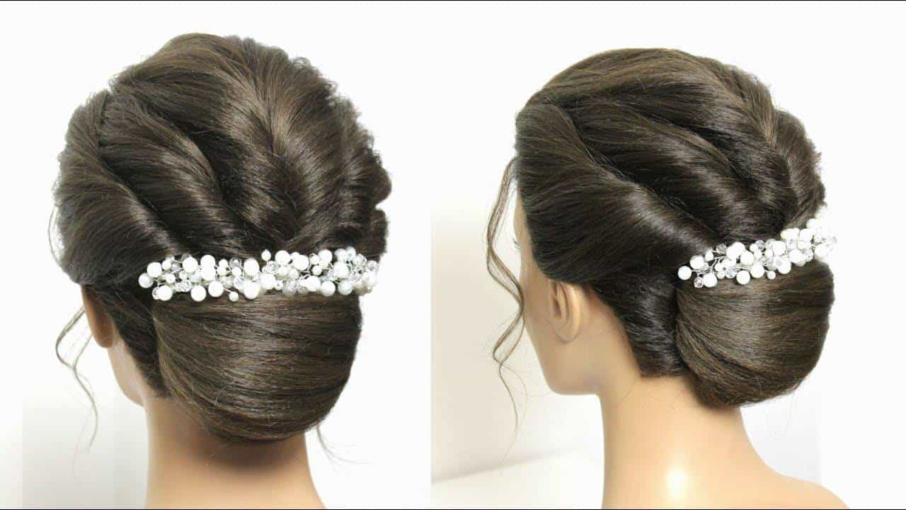 French Roll Bun Hairstyle With Twists Simple Craft Ideas