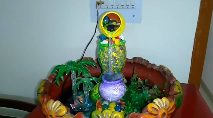 Make Indoor Fountain How to make tabletop indoor fountain with waste plastic containers tabletop indoor fountain workwithnaturefo