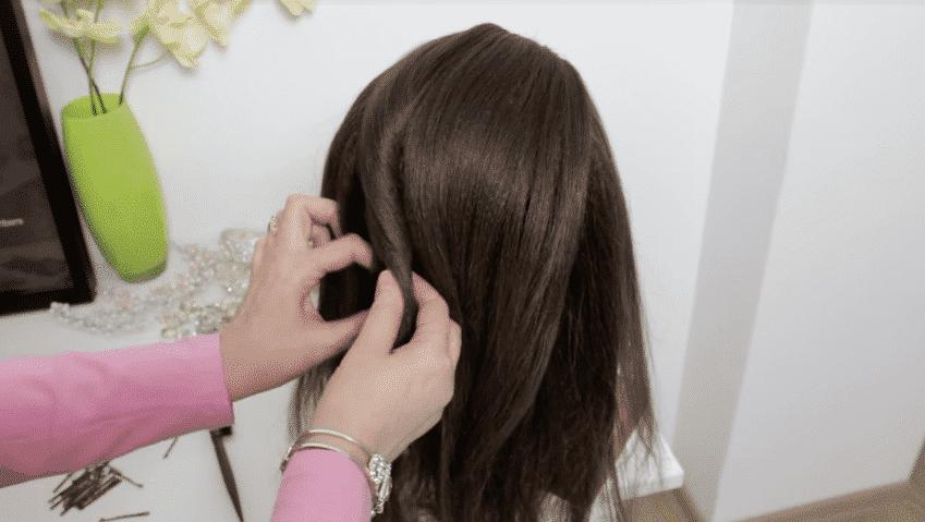 French Roll Bun Hairstyle With Twists Artsycraftsydad