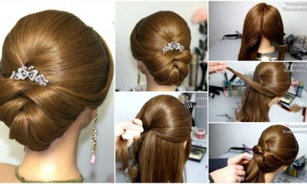 Wedding hairstyle for medium long hair