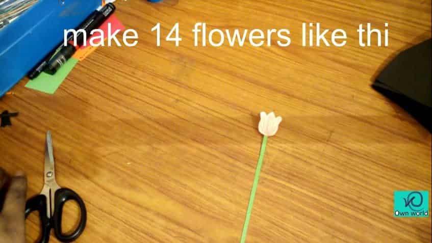bouquet pop up card