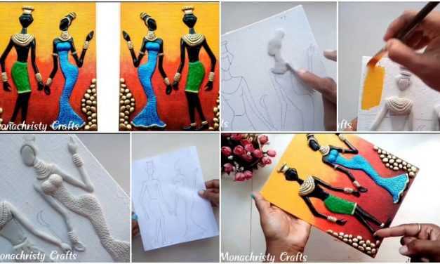 How to make African tribal mural on canvas