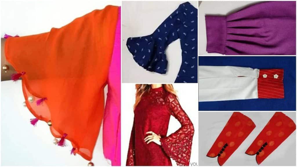 Beautiful sleeves designs for kurti