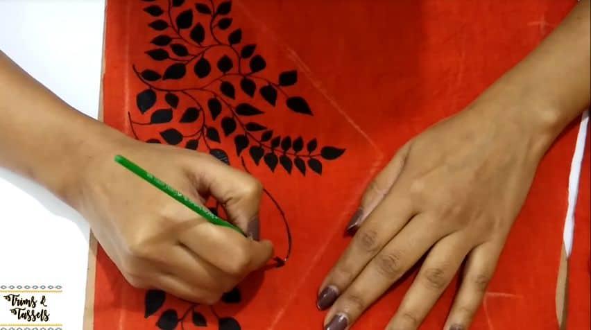 painted designer kurti