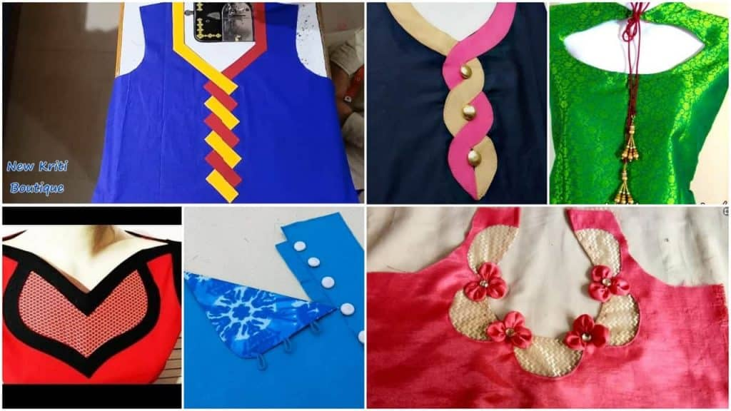 Beautiful Kurti Neck Design Cutting And Stitching Simple Craft Ideas