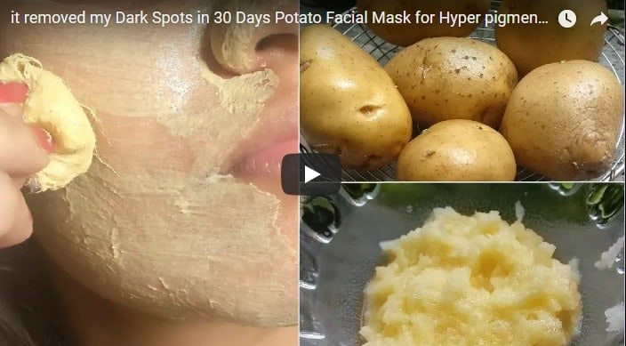 potato facial mask
