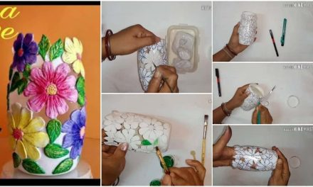 How to make flower vase with plastic jar