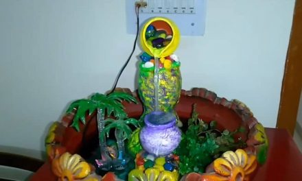 How to make tabletop indoor fountain with waste plastic containers