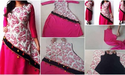 Designer layered kurti cutting and stitching tutorial