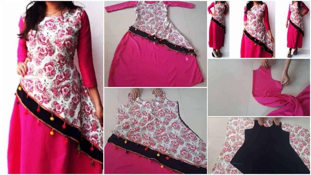 Designer layered kurti