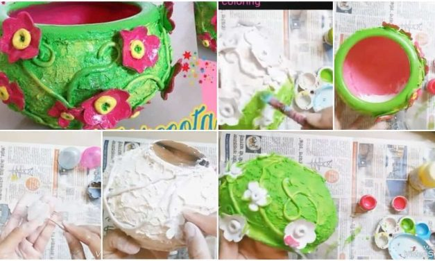 How to make convert old terracotta pot in to beautiful decorative piece
