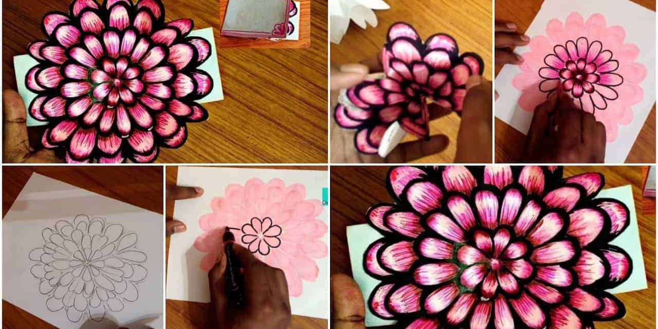 How to make small flower pop-up card