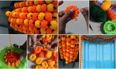 How to make woolen garland