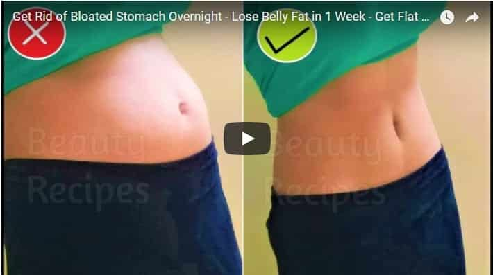 Get rid of bloated stomach overnight