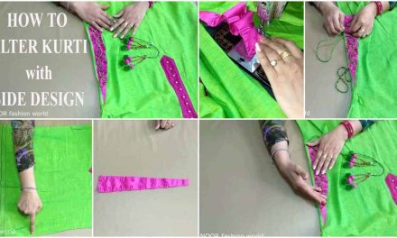 How to alter kurti with side slit dori latkan hangings