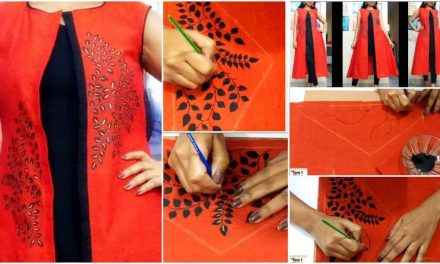 How to make hand painted designer kurti