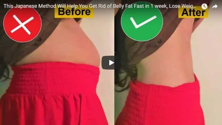 Japanese method will help get rid of belly fat fast in 1 week