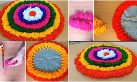 How to make doormat from yarn
