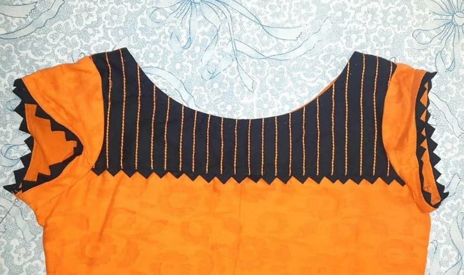 Stylish neckline for kurti
