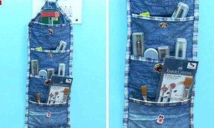 How to make  multipurpose organizer form old jeans