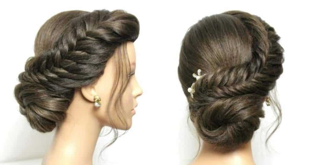 Braided Bun Hairstyle Simple Craft Ideas