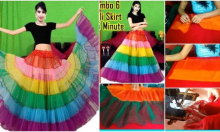 How to make long rainbow skirt