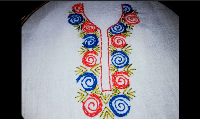 Panjabi Neck design