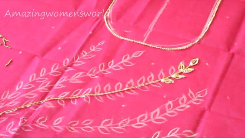 Gold beads designing