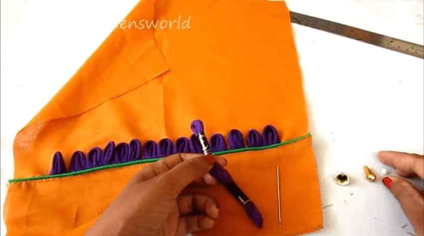 Petal sleeves designing