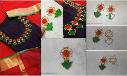 Making authentic kerala style motifs on kurti