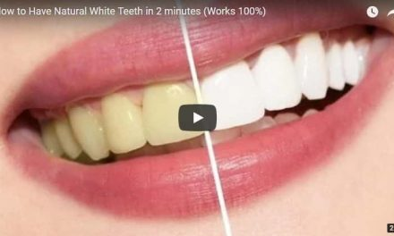 How to have natural white teeth in 2 minutes
