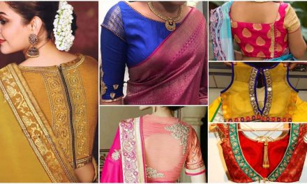 Indian wedding blouse design for silk saree
