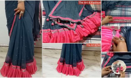 Make beautiful, fashionable, stylist fresher day saree