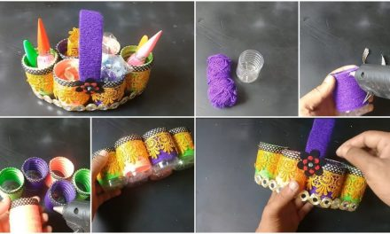 How to make an organizer from plastic bottle