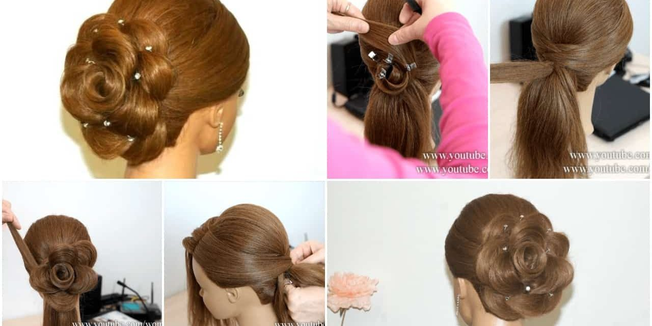 Wedding hairstyle for long hair