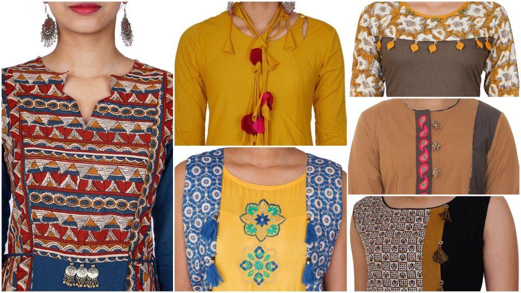 Top 20 Stylish And Trendy Kurti Neck Designs Simple Craft Ideas