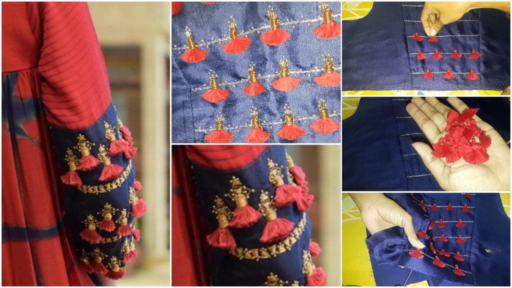 Tassel embroidery
