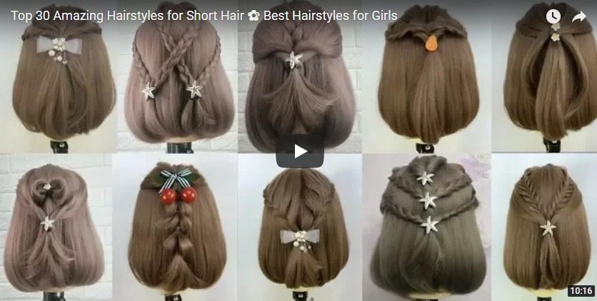 Top 30 amazing hairstyles for short hair - Simple Craft Ideas