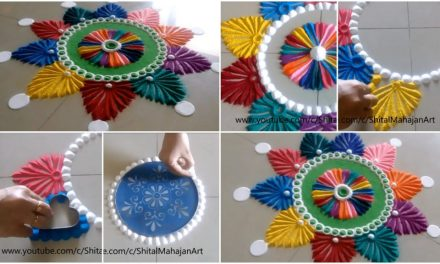 Creative and beautiful multicolored rangoli designs
