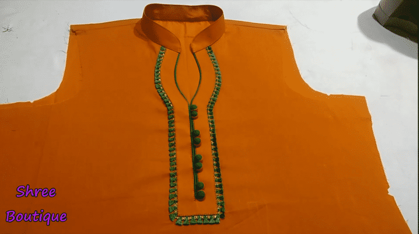 high neck collar neck design cutting and stitching