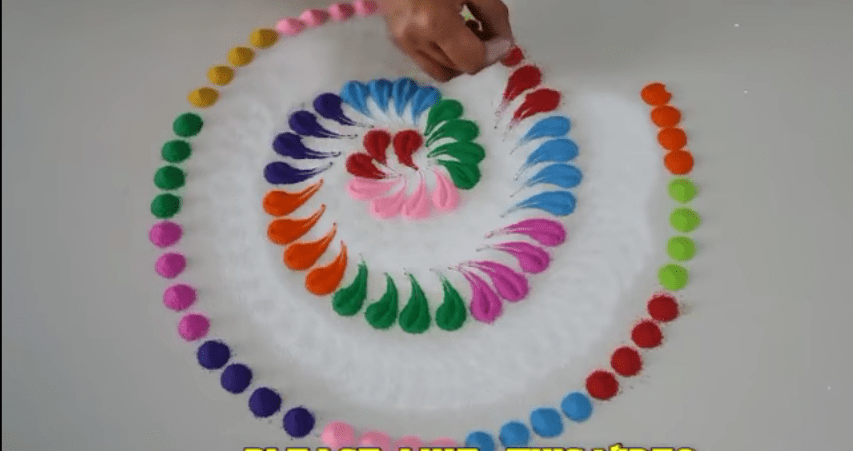 tricky rangoli design