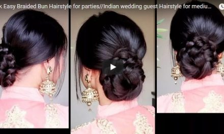 Quick easy braided bun hairstyle for parties