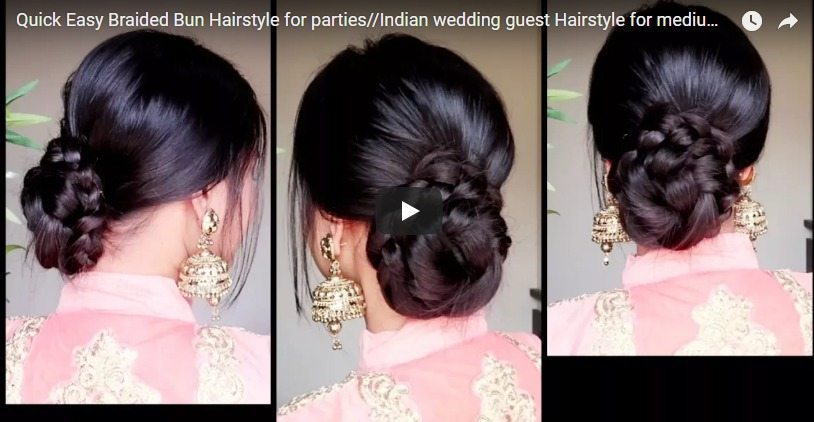 Quick Easy Braided Bun Hairstyle For Parties Simple Craft