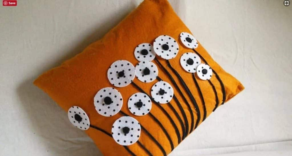 How to  make a felted pillow cases
