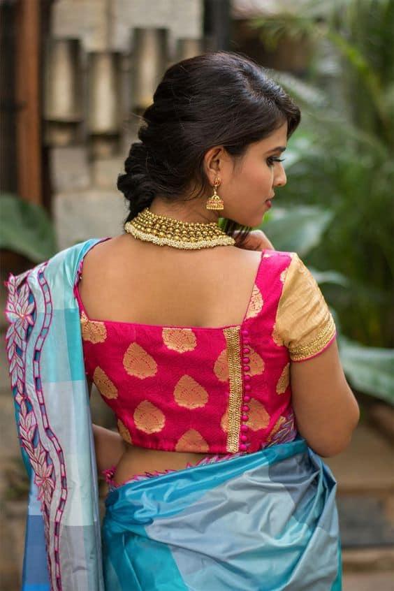 Indian Wedding Blouse Design For Silk Saree Simple Craft
