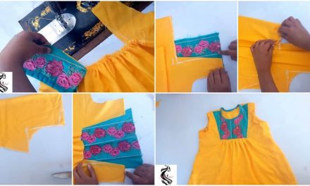 Designer baby tunic top cutting and stitching