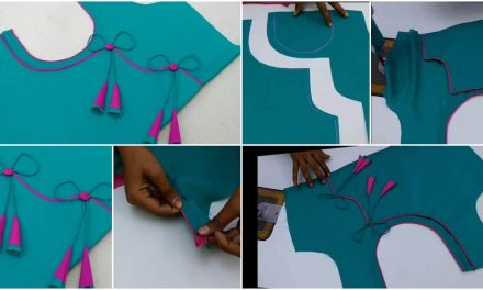 The beautiful back blouse designing and stitching